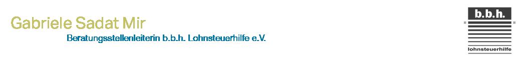 Lohnsteuerhilfe Hamm – Gabriele Sadat MIr